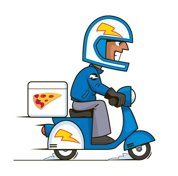 Delivery Man Pizza Panico